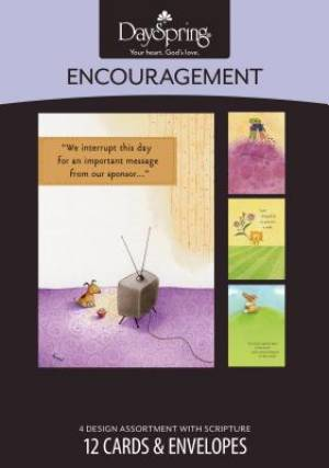 Boxed Card Encouragement Furry