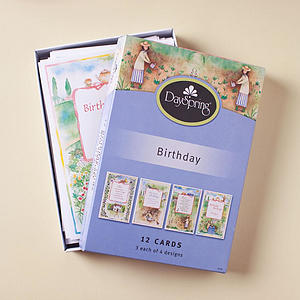 Birthday - Garden Friends - 12 Boxed Cards