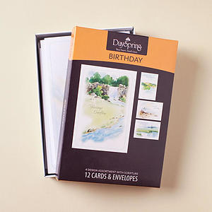 Birthday - Living Waters - 12 Boxed Cards