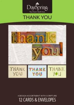 Thank You - 12 Boxed Cards
