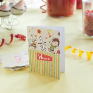 Peanuts - Woohoo - 10 Note Cards