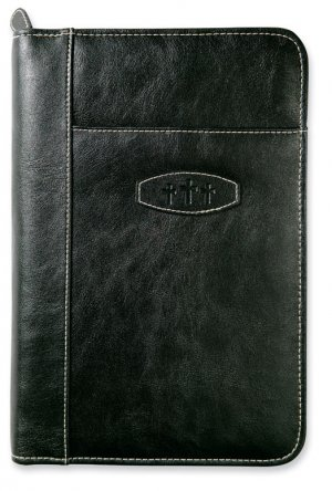 Leather-Look Bible Cover: Ebony, XL