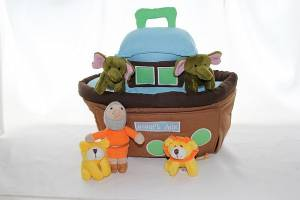 PLUSH NOAHS ARK 6 PC PLAYSET