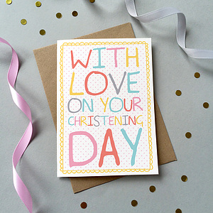 With Love on Your Christening Day Single Card