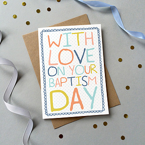With Love on Your Baptism Day Single Card