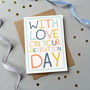 With Love on Your Dedication Single Card