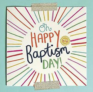 Oh Happy Baptism Day Single Card