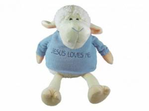 PLUSH PALS SITTING LAMB BLUE