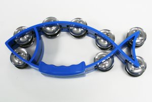 Blue Fish Shaped Tambourine