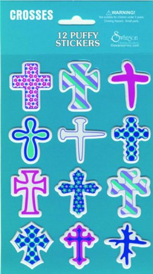 Puffy Stickers Crosses