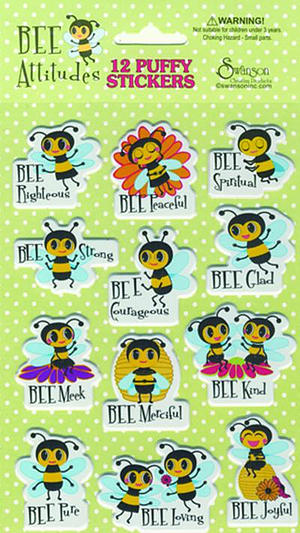 Puffy Stickers Bee Attitudes Single Sheet