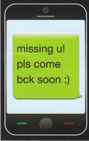 Missing You Text Message (postcard)