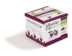 Fellowship Cup - Prefilled Communion Bread and Cup - Box 100