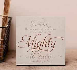 Mighty to Save Plaque