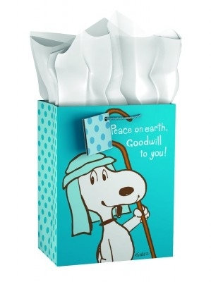 GIFT BAG CHRISTMAS SNOOPY