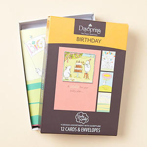 Really Woolly - Birthday - Blossoming Blessing - 12 Boxed Cards