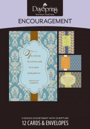BOXED CARD ENC SCRIPTURAL PATT