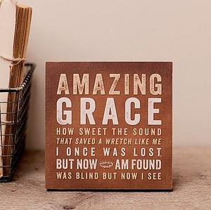 Amazing Grace Plaque