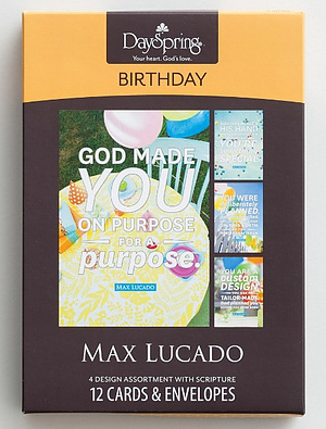 Boxed Cards: Max Lucado Birthday - Pack of 12