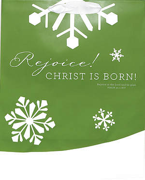 Large Green Snowflake Gift Bag