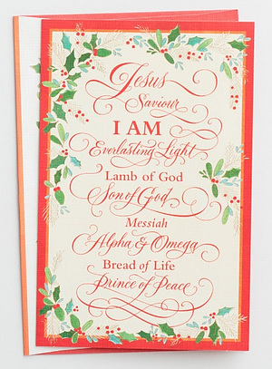 Jesus Saviour Christmas Cards Box of 18