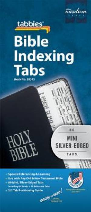 Bible Index Tab Silver Mini | Free Delivery when you spend £10