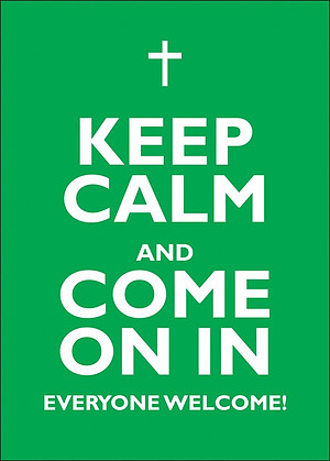 Keep Calm and Come On In - A2 Poster