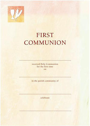 First Communion Peach / Cream - Pack of 10