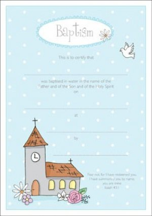 Certificate of Baptism Pack of 10