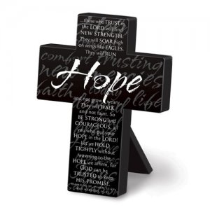 Hope Mini Metal Message Cross