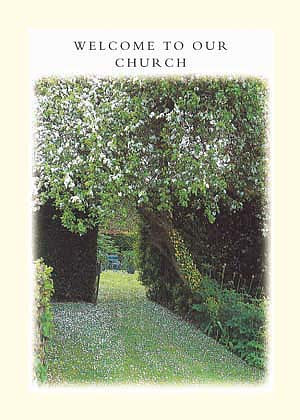 Welcome To Our Church Card - Pack of 6