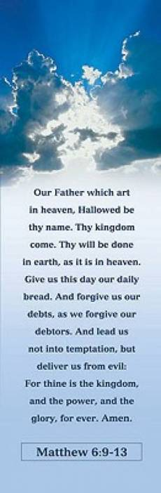 Lords Prayer Bookmarkers - Pack of 25
