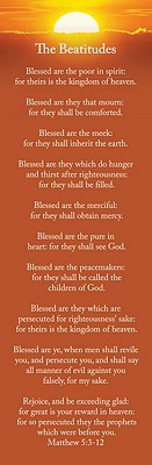 Beatitudes Bookmarks - Pack of 25