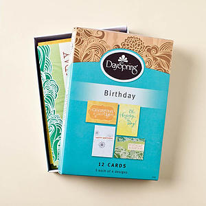 Birthday - Fresh Patterns- 12 Boxed Cards