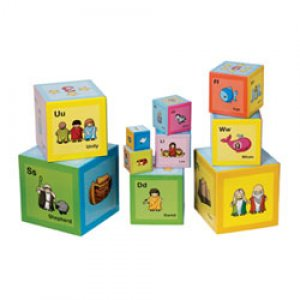 Noahs ABC Stacking Blocks Cardboard