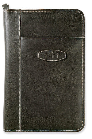 Leather Look Bible Cover: Dark Earth, Large