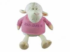 PLUSH PALS SITTING LAMB PINK