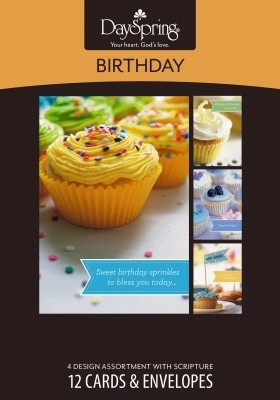 BOXED CARD BD CUPCAKES