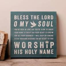 10,000 Reasons Wall Plaque