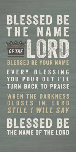 Blessed Be Your Name Wall Hanging