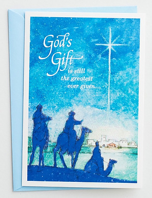 God's Greatest Gift Christmas Cards Box of 18