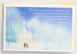 Billy Graham - Only Christ Meets Our Needs - 18 Premium Christmas Boxed Cards, KJV