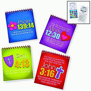 Spiral Colour Pads With Stickers Pack of 12