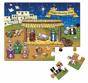 Happy Birthday Jesus Christmas Jigsaw Puzzle