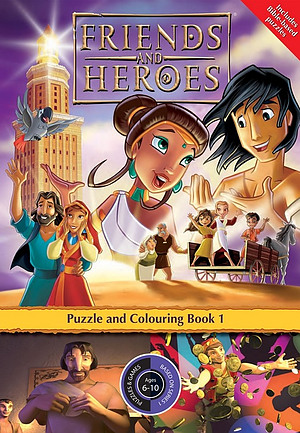 Friends and Heroes Puzzle and Colouring Book 1