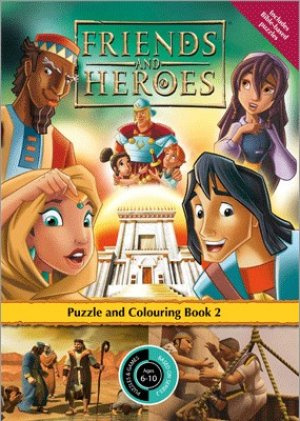 Friends and Heroes Puzzle and Colouring Book 2