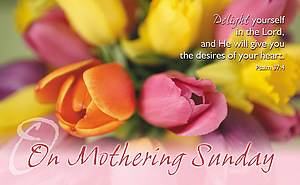 On Mothering Sunday Tulips Postcards - Pack of 24