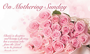 On Mothering Sunday Postcards - Pack of 24