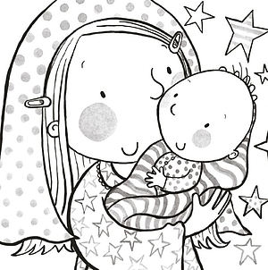 Nativity Colouring Christmas Cards Pack of 18