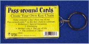 Acrylic Keyring - Pass-Around Card Holder